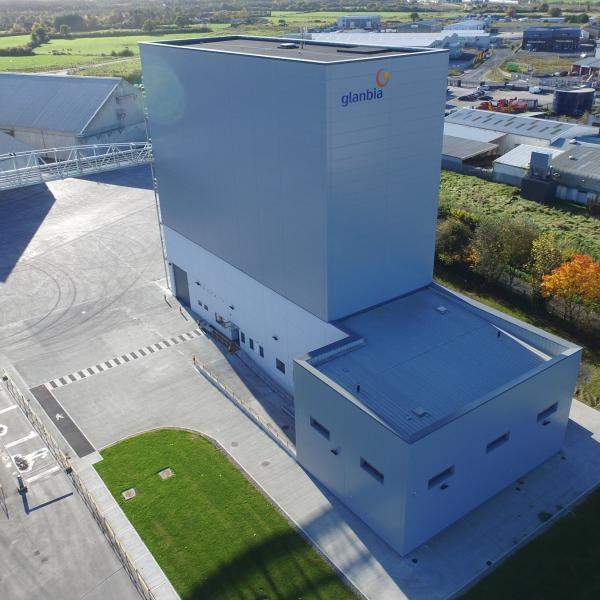 Aerial shot of Glanbia Oat Factory in Portlaoise