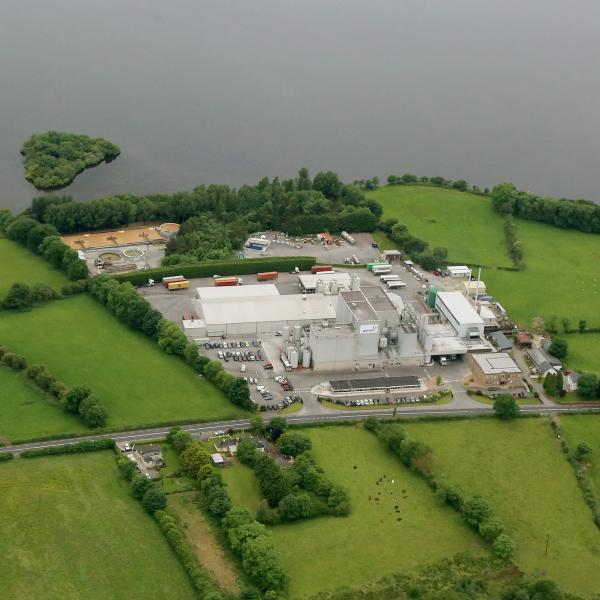Overhead offfice of Glanbia Ireland Ingredients facility in Virginia