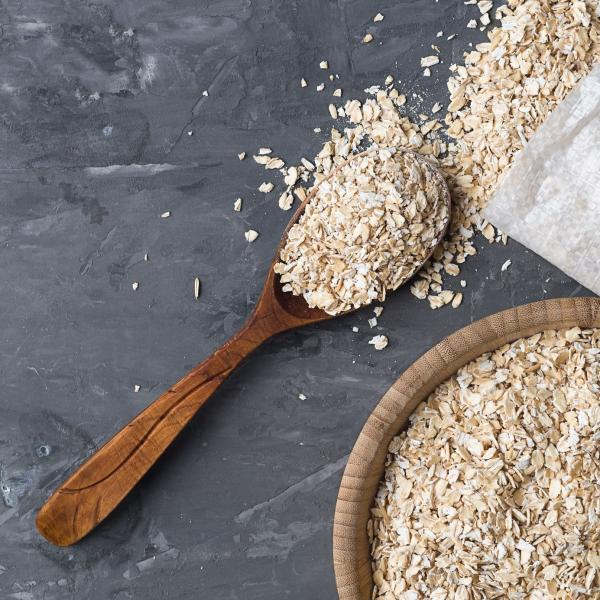 Wooden spoon with Glanbia Ireland quick cut oats